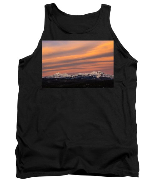 Sunset In Glacier National Park Tank Top