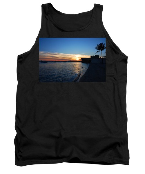 Tank Top featuring the photograph 2- Sunset In Paradise by Joseph Keane