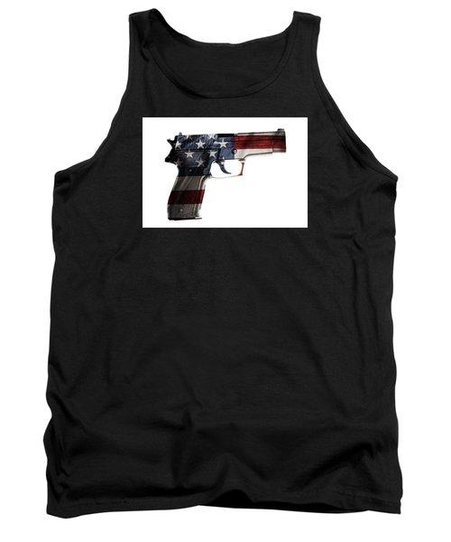 Usa Gun  Tank Top