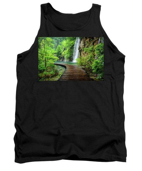 Walking Through Waterfalls - Plitvice Lakes National Park, Croatia Tank Top