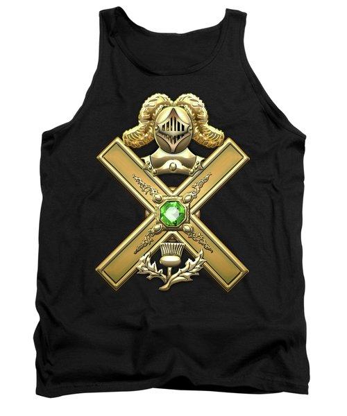29th Degree Mason - Scottish Knight Of Saint Andrew Masonic Jewel  Tank Top