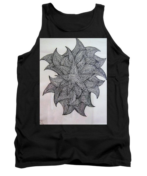 3 D Sketch Tank Top by Barbara Yearty