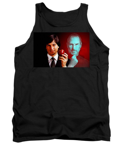 Tank Top featuring the mixed media Steve Jobs by Marvin Blaine
