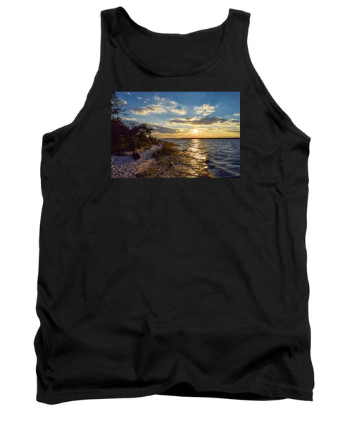 Sunset On The Cape Fear River Tank Top
