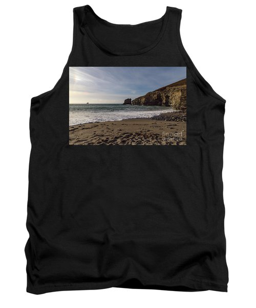 Tank Top featuring the photograph Trevellas Cove Cornwall by Brian Roscorla