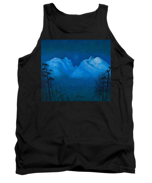 Winter Night In The Mountains Tank Top