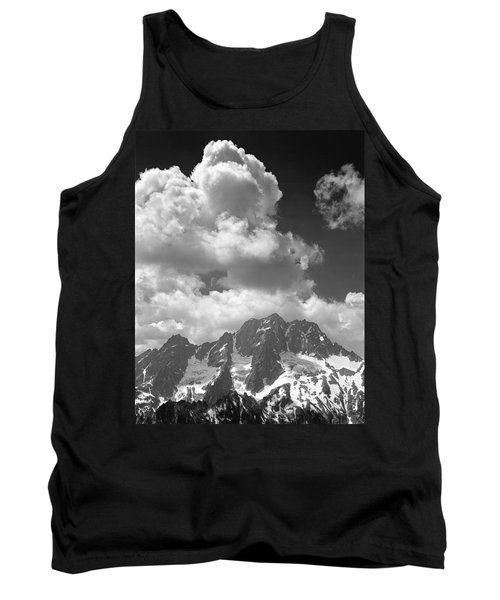 304638 Clouds Over Mt. Stuart Bw Tank Top
