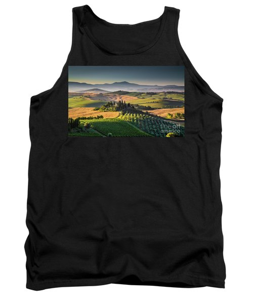 A Morning In Tuscany Tank Top by JR Photography