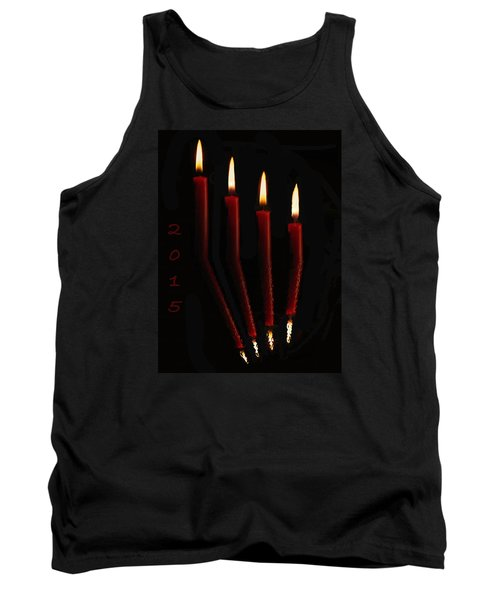 4 Reflected Candles Tank Top