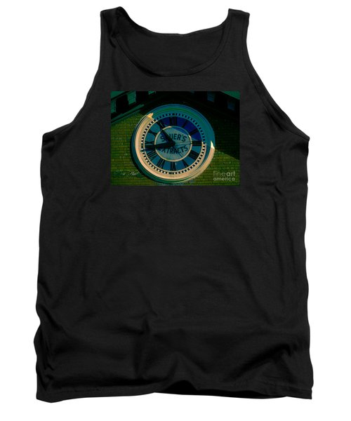 Tank Top featuring the photograph Sauer Clock by Melissa Messick