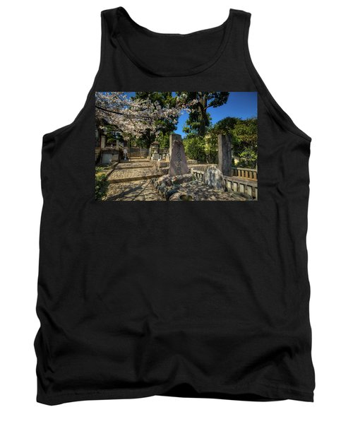 47 Samurai And Cherry Blossoms Tank Top