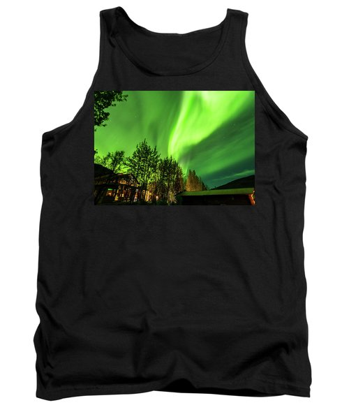 Northern Lights, Aurora Borealis At Kantishna Lodge In Denali National Park Tank Top