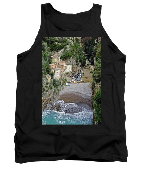 This Is A View Of Furore A Small Village Located On The Amalfi Coast In Italy  Tank Top