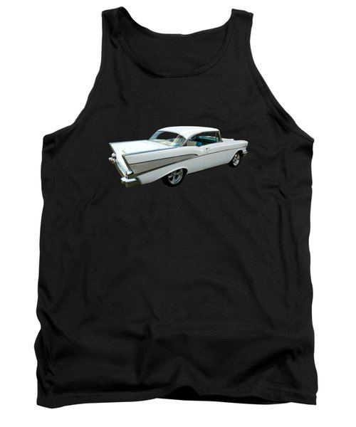 57 Chevy Bel-air Hardtop In Silver And White Tank Top