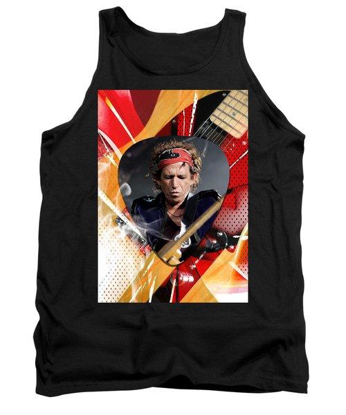 Keith Richards Art Tank Top