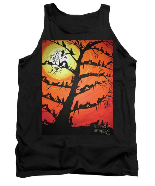 60 Cats In The Love Tree Tank Top