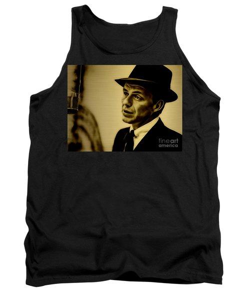 Frank Sinatra Art Tank Top by Marvin Blaine