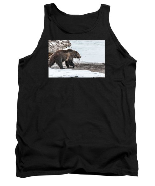 Tank Top featuring the photograph #760 At The River In Early Spring by Yeates Photography