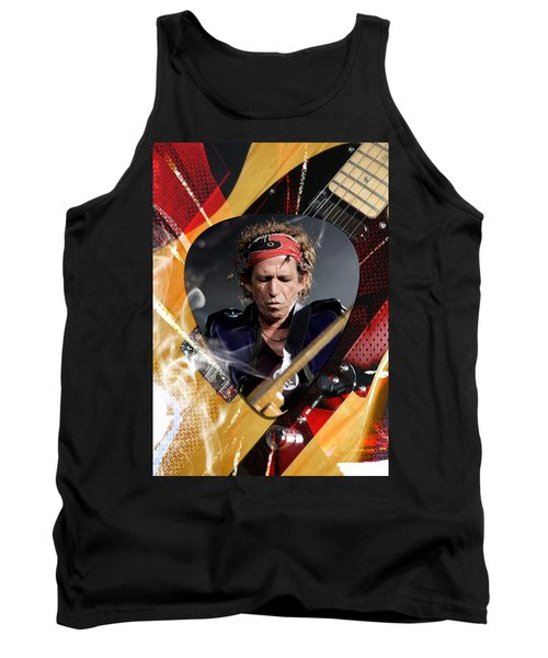 Keith Richards Art Tank Top by Marvin Blaine