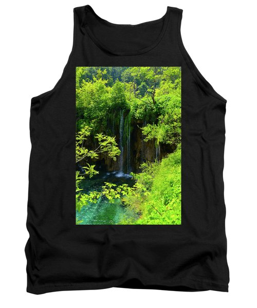 Waterfall In Plitvice National Park In Croatia Tank Top
