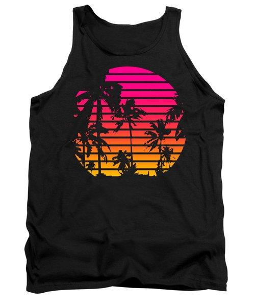 80s Tropical Sunset Tank Top