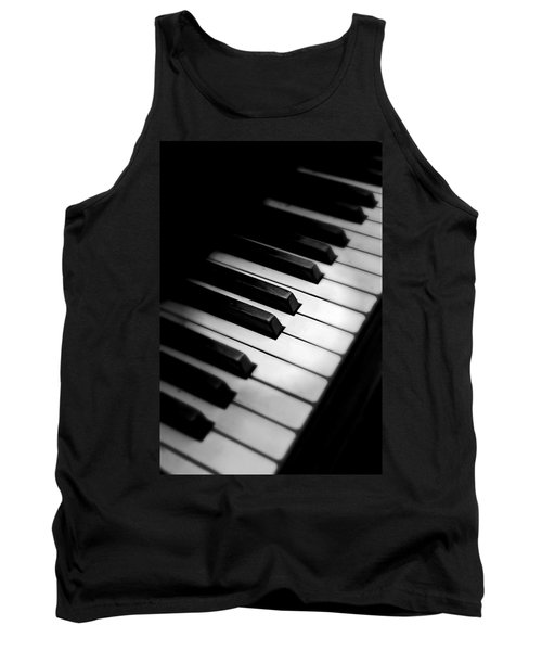 88 Keys To The Heart Tank Top by Aaron Berg