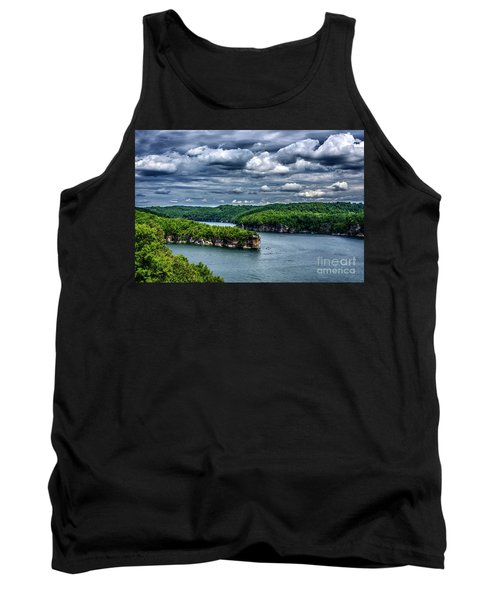 Long Point Summersville Lake Tank Top by Thomas R Fletcher