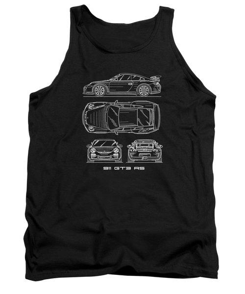 911 Gt3 Rs Blueprint Tank Top