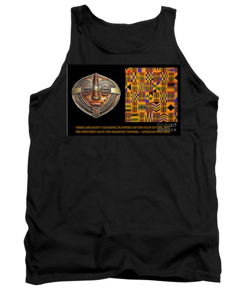 Tank Top featuring the digital art A  African Proverb by Jacqueline Lloyd