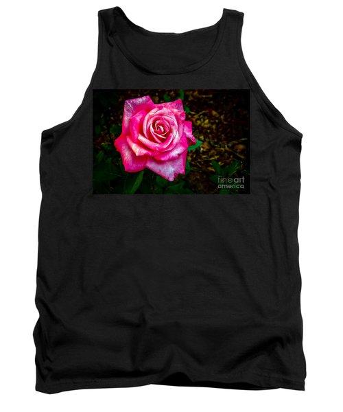 A Bicolor Rose Tank Top