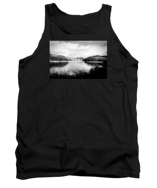 A Black And White Landscape On The Nantahala River Tank Top
