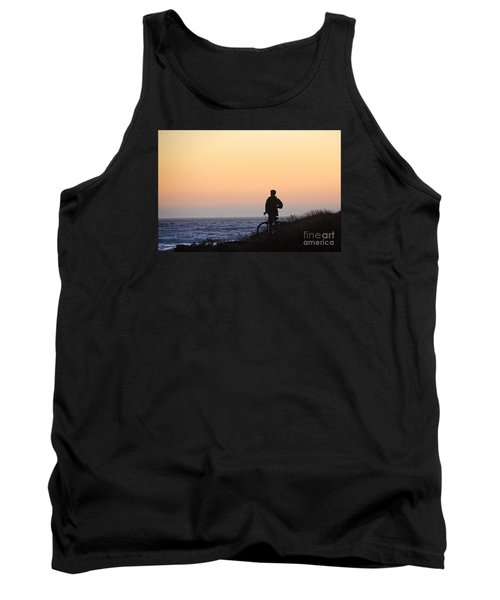 A Boy His Bike And The Beach Tank Top
