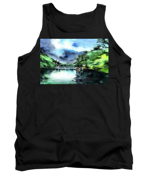 Tank Top featuring the painting A Bridge Not Too Far by Anil Nene