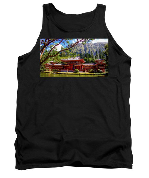 Buddhist Temple - Oahu, Hawaii - Tank Top