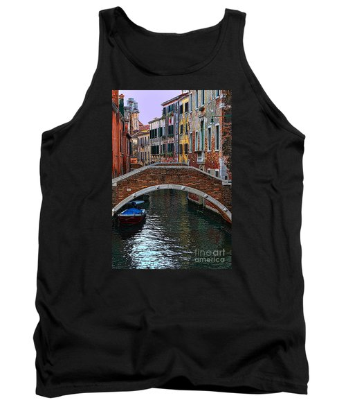 A Canal In Venice Tank Top by Tom Prendergast