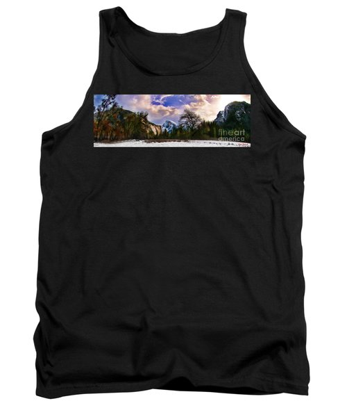 A Cold Yosemite Half Dome Morning Tank Top