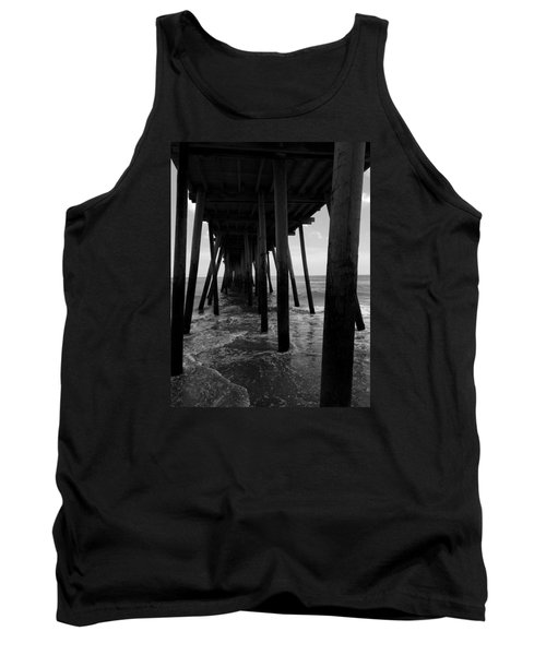 Tank Top featuring the pyrography A Day At Virginia Beach #2 by Rebecca Davis