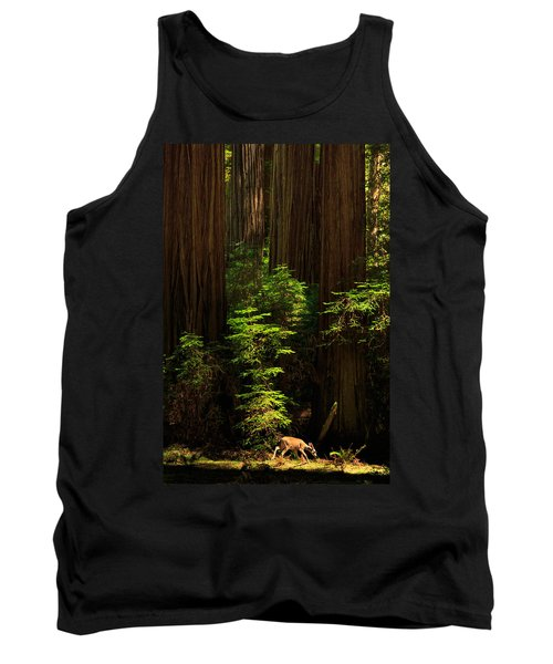 A Deer In The Redwoods Tank Top