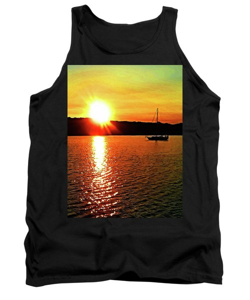 A Early Springtime Visit To Mystic Village In M Tank Top