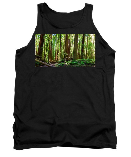 A Family Of Redwoods Panorama Tank Top