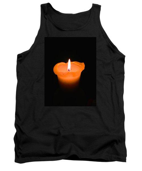 A Flame In The Dark Tank Top by David Warrington