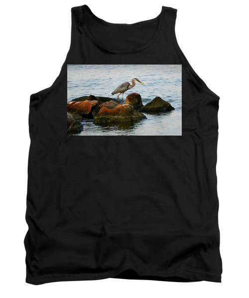 A Great Blue Heron Day Tank Top