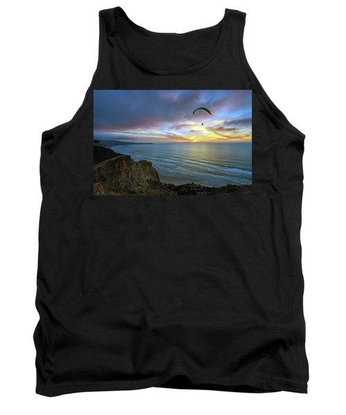 A Hang Glider And A Sunset Tank Top