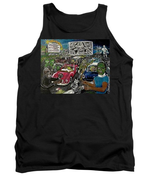 A I P Monster Movie Marathon At The Twilight Drive - In  La Porte Indiana Tank Top