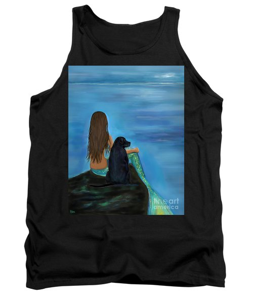Tank Top featuring the painting A Loyal Buddy by Leslie Allen