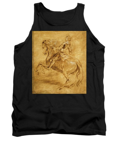 Tank Top featuring the painting A Man Riding A Horse by Anthony van Dyck