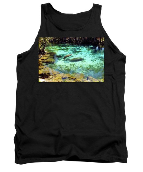 A Manatee Calf And Cow  Tank Top
