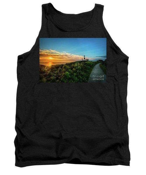 A Montauk Lighthouse Sunrise Tank Top