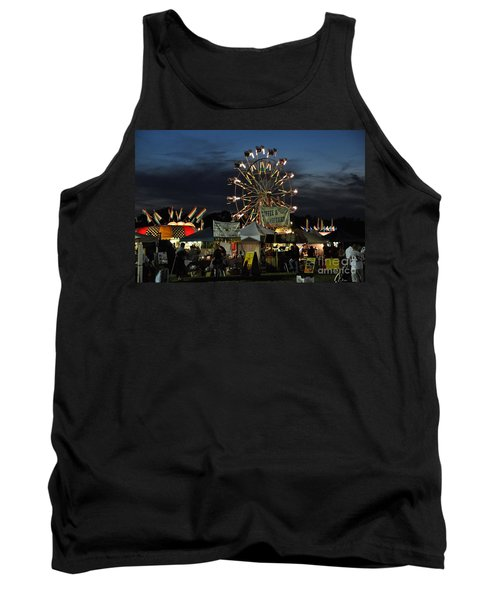 Tank Top featuring the photograph A Night At The Fair by John Black