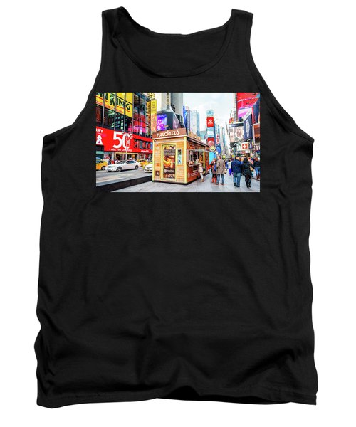 A Portable Food Stand In New York Times Square Tank Top